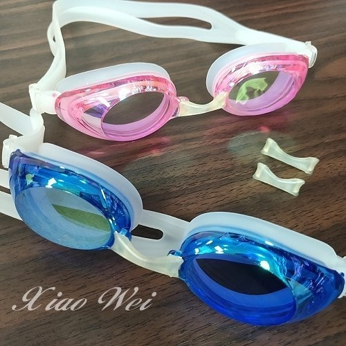 ☆小薇的店☆TRANSTAR品牌漸層鍍膜休閒防霧泳鏡特價390元NO.6900M (粉/藍)