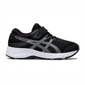 Asics Contend 6 Ps [1014A087-004] 中童鞋 慢跑鞋 運動 休閒 輕量 支撐 緩衝 黑 灰