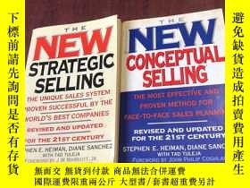二手書博民逛書店THE罕見NEW CONCEPTUAL SELLING + THE NEW STRATEGIC SELLING 兩