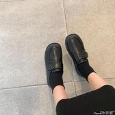 樂福鞋英倫風小皮鞋女2020春季配裙子軟妹樂福鞋學生百搭黑色日系單鞋 小天使