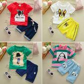 新款童裝男童女寶寶衣服短袖短褲兒童兩件套裝夏2-3歲運動潮 范思萊恩