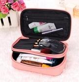 旅行化妝包化妝品收納盒化妝袋韓國可愛防水女士大容量洗漱包雙層 歐亞時尚