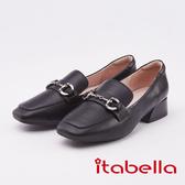 itabella. 經典馬銜扣樂福鞋(0227-90黑色)