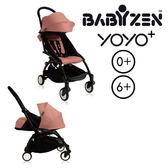 【現貨-第3代】法國 BABYZEN YOYO plus/YOYO+ 嬰兒手推車(6m+&新生兒套件) (黑骨架) 淡粉