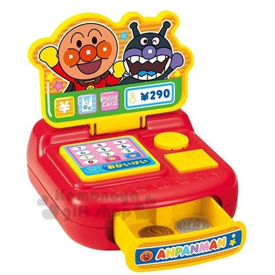 〔小禮堂〕麵包超人 音樂收銀機鈔票玩具組《橘盒.招手》兒童玩具.益智玩具 4979750-80082