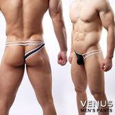 蘇菲24H購物  VENUS 網紗性感情趣 單邊褲 一字 丁字褲 黑