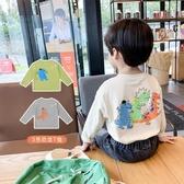 童裝男童秋裝長袖T恤女秋季卡通打底t兒童洋氣上衣潮【免運】