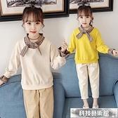 女童網紅套裝洋氣秋裝2021新款時髦中大兒童小學生運動休閒兩件套