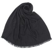 CalvinKlein CK滿版LOGO絲質寬版披肩圍巾(黑色)103252-11