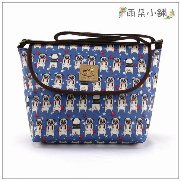 斜背包 包包 防水包 雨朵小舖U034-024 中斜背包-深藍小狗巴戈13129 funbaobao