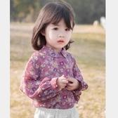 女童春秋韓版襯衫碎花透氣長袖襯衣兒童上衣新款外貿童裝 麥琪精品屋