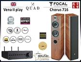 法國製 FOCAL CHORUS 716 喇叭 + 英國 QUAD Vena II PLAY 無線串流擴大機 - 現貨可視聽