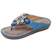 涼拖鞋 舒適防滑軟底沙灘鞋民族風夾趾涼鞋波西米亞人字拖鞋女夏外穿平底