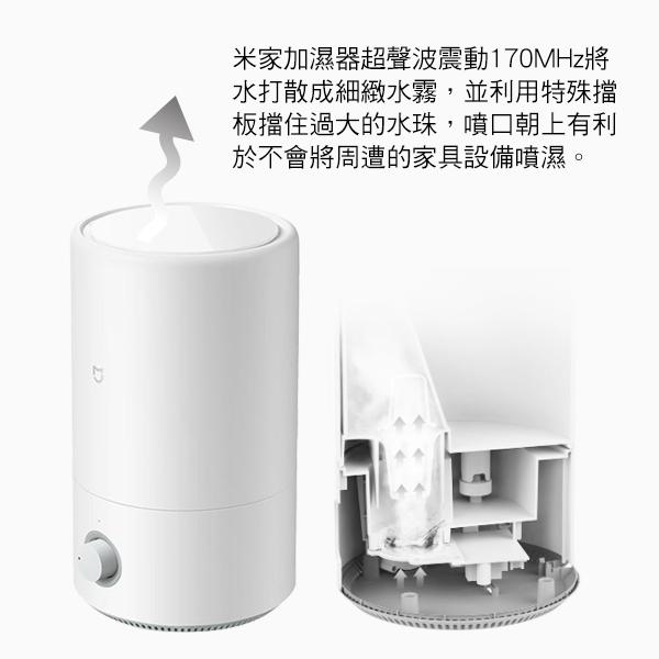 【coni shop】米家加濕器4L 現貨 當天出貨 大容量 大口徑注水開口 溫潤空氣 增濕器 緩解乾燥環境