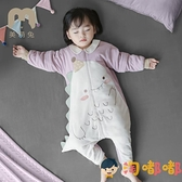 恒溫睡袋嬰兒春秋冬季寶寶睡衣兒童防踢被分腿【淘嘟嘟】