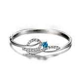 手環 925純銀鑲鑽-耀眼迷人生日情人節禮物女手鍊6色73fg8【時尚巴黎】