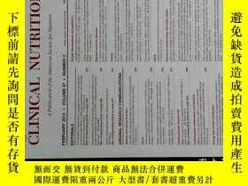 二手書博民逛書店THE罕見AMERICAN JOURNAL OF CLINICAL NUTRITION 2013 02 美國臨床營