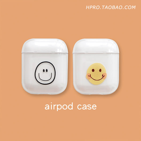 【SZ25】笑臉耳機套 AirPods 保護套 防摔 透明 個性 創意
