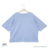 【南紡購物中心】【INI】注目率性、立體特殊剪裁文青感上衣.水藍色