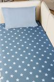 休休家飾 XIUXIU 星空藍 星星組  純棉床包枕套單人  兩件組、枕套雙色