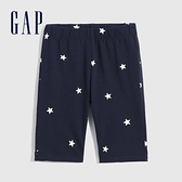 Gap女童 棉質微彈針織短褲 697331-海軍藍