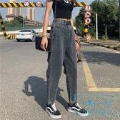 牛仔褲 加絨寬鬆蘿卜牛仔褲女2019秋冬新款高腰直筒外穿冬季老 十點一刻