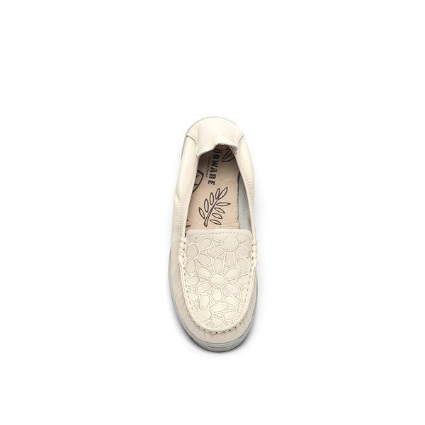 ORWARE-簡約花面輕底娃娃鞋652114-11米