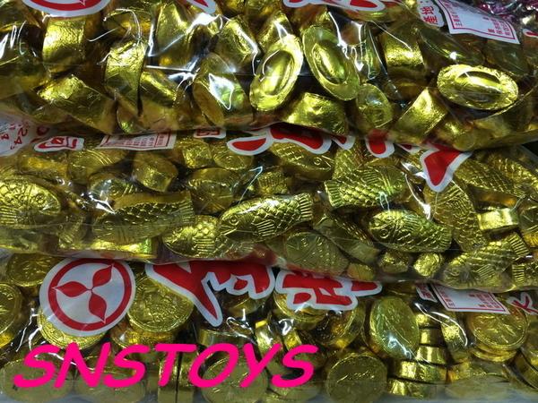 sns 古早味 懷舊零食 巧克力 元寶巧克力 金元寶 3公斤(另有 金幣 金魚 巧克力)