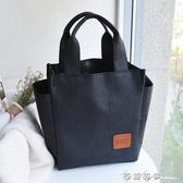 飯盒袋手提包韓版飯袋便當包女防水手提袋飯盒包學生便當袋大號 西城故事