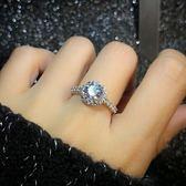 鋯石仿真鉆戒女1克拉日韓結婚對戒鑲嵌個性簡約潮人學生求婚戒指