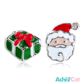 不對稱耳環 AchiCat 正白K 聖誕快樂 聖誕老人 耳針式 聖誕節交換禮物 一對價格