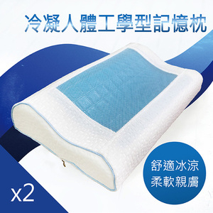 【Victoria】冷凝人體工學型記憶枕(二入)