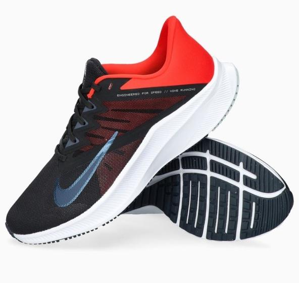 NIKE系列-QUEST 3 男款黑紅色運動慢跑鞋-NO.CD0230016