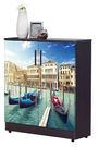 【森可家居】尚恩2.7x3尺威尼斯河畔雙色鞋櫃 7JF295-1 (共5層) 美式復古工業風