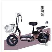 綠元素新款電動車成人48V電瓶代步小型女士電動自行車助力電單車igo