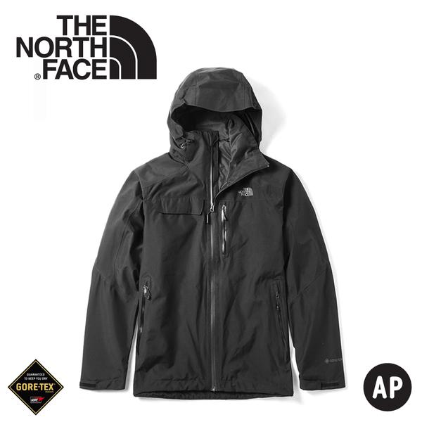 【The North Face 男 GORE-TEX單件式防水外套《黑》】49B6/衝鋒衣/防水外套/風雨衣