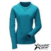 Polarstar 台灣製造 女圓領刷毛保暖衣-『藍綠』MIT│排汗│透氣│保暖│抗靜電 P16246