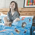 床包 / 單人【DC正義聯盟-正義曙光】含一件枕套,磨毛多工法處理,戀家小舖台灣製M02-ABF101