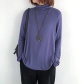 高領打底針織衫女 羊絨針織上衣 內搭長袖T恤/5色-夢想家-1028