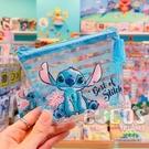 迪士尼 三角小物袋 透明收納包 化妝包 收納包 鑰匙包 零錢包 票卡包 史迪奇款 COCOS WZ075