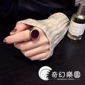 开口可调节戒指女日韩国个性夸张尾戒简约关节指环学生大气食指戒-奇幻樂園
