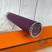BRAND楓月 HERMES 愛馬仕 紫色皮革萬花筒 多樣花紋 高質感 萬花鏡 科學趣味小物