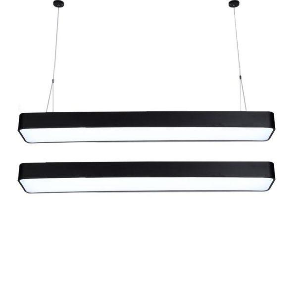 吊燈 LED長條辦公室長方形簡約現代吸頂燈臥室超市商場學校吊線燈 - 古梵希