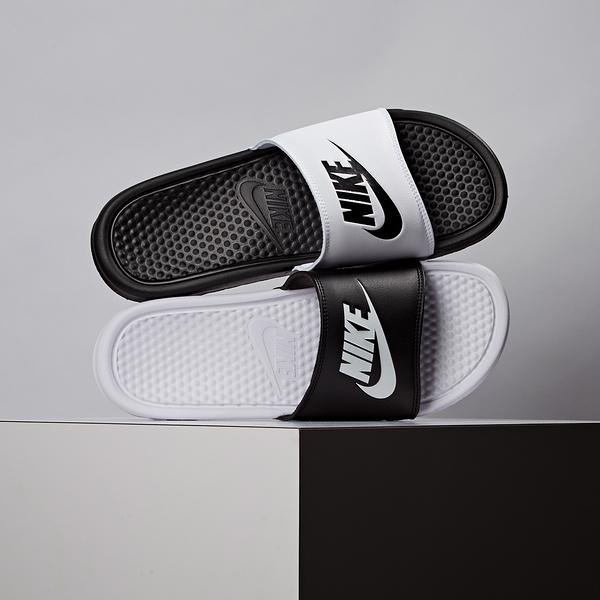 Nike Benassi Jdi Mismatch 男款 黑白 陰陽拖 休閒 拖鞋 818736-011