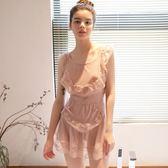 大露背蕾絲網紗透視透明情趣性感誘惑女仆吊帶睡裙睡衣滿598元立享89折