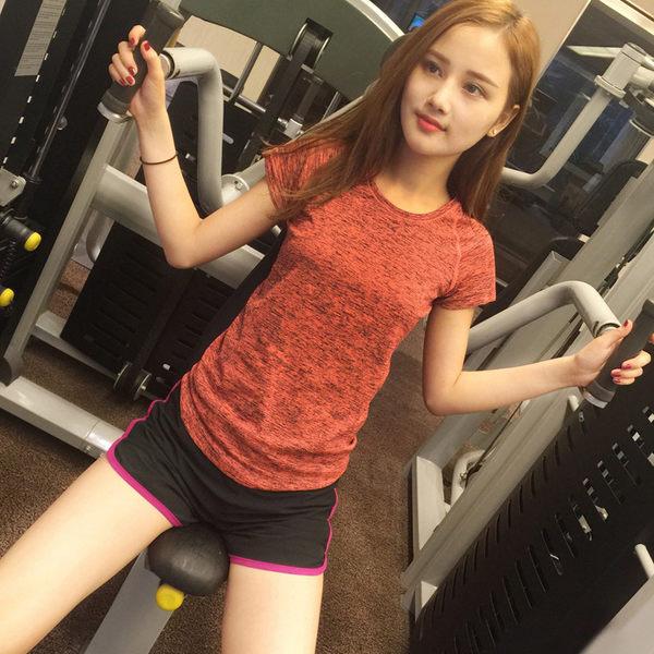 健身服瑜伽服褲子女短褲健身房運動跑步褲高溫瑜伽褲子防走光   - lxy00104