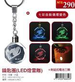 (木棉花)預購:鑰匙圈(LED燈雷雕)-魔導少年ⅢA款(妖尾)