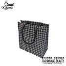 手提袋-編織袋(S)-黑灰千鳥-03C