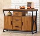 【南洋風休閒傢俱】餐櫃系列- 格維納4尺餐櫃 碗碟櫃 櫥櫃 碗盤櫃 收納櫃 置物櫃 CX838-1