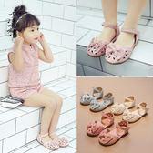 童鞋/涼鞋 新款鏤空公主鞋包頭蝴蝶結小女孩鞋學生韓版小童